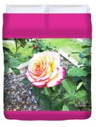 Tea Rose For A Lady Duvet Cover