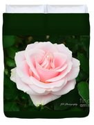 Tea Rose In Pink Duvet Cover