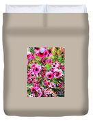 Tea Tree Garden Flowers Duvet Cover