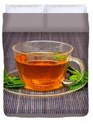 Tea With Mint Duvet Cover