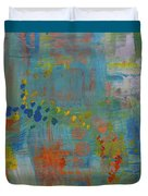 Teal Abstract, A New Look Again Duvet Cover