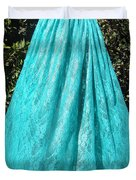 Teal Green Lace Skirt. Ameynra By Sofia Duvet Cover