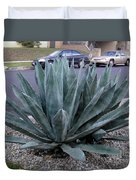 Teal-green Tequila Plant. Exotic Duvet Cover