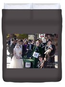 Team 55 At Emma Crawford Coffin Races In Manitou Springs Colorado Duvet Cover