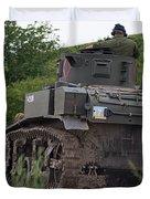 Tearing It Up - M3 Stuart Light Tank Duvet Cover