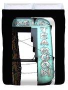 Tearoom Sign Duvet Cover