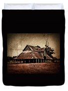 Teaselville Texas Barns Duvet Cover