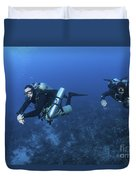 Technical Divers With Equipment Duvet Cover