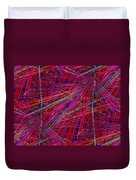 Technicolor Pick Up Stix Duvet Cover