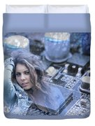 Technology Girl Duvet Cover