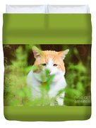 Teddy In The Garden Duvet Cover