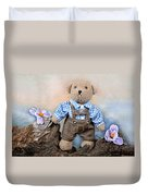 Teddy On Tour Duvet Cover