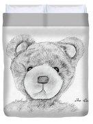 Teddybear Portrait Duvet Cover