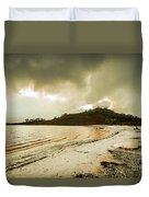 Teds Beach At Dusk Duvet Cover