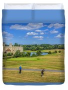 Teeing Off At Leeds Castle Duvet Cover