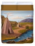 Teepees On The Plains Duvet Cover