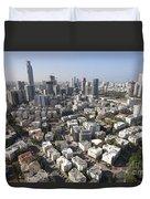 Tel Aviv And Ramat Gan Israel Duvet Cover