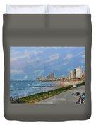 Tel Aviv Beachline Duvet Cover