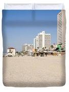 Tel Aviv Coastline Duvet Cover