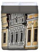 Telc Facade #2 - Czech Republic Duvet Cover