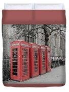 Telephone Boxes Duvet Cover