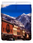 Telluride For The Holiday Duvet Cover