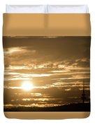 Telstra Tower Sunset Duvet Cover