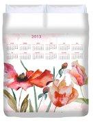 Template For Calendar 2013 Duvet Cover