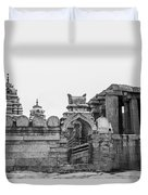 Temple Architecture Duvet Cover