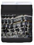 Temple Detail In Bangkok Thialand Duvet Cover