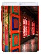 Temple Door Duvet Cover