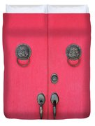 Temple Doors Duvet Cover