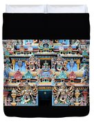 Temple Facade Chennai India Duvet Cover