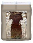 Temple Of Edfu I Duvet Cover