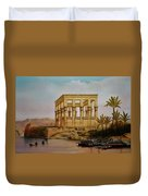 Temple Of Isis On The Nile River Duvet Cover