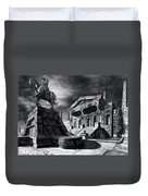 Temple Of Perseus Duvet Cover