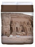 Temple Of Rameses II Duvet Cover