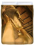 Temple Of Reclining Buddha  Duvet Cover