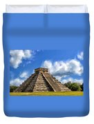 Temple Of The Feathered Serpent Duvet Cover