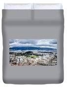 Temple Of Zeus - View From The Acropolis Duvet Cover