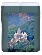 Temple In The Distance - Rishikesh India Duvet Cover