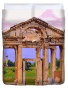 Temple Ruins At Ephesus Duvet Cover