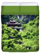 Temple Tam Coc Ninh Binh  Duvet Cover