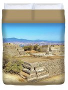 Temples In Monte Alban Duvet Cover