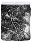 Temporary Tree Dwelling Duvet Cover