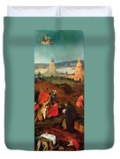 Temptation Of Saint Anthony, Right Wing Duvet Cover