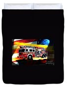 Ten Truck Fdny Duvet Cover