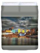 Tenby Harbour Pembrokeshire Duvet Cover