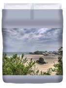 Tenby Pembrokeshire Low Tide Duvet Cover