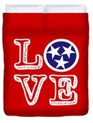 Tennessee Flag Love Duvet Cover